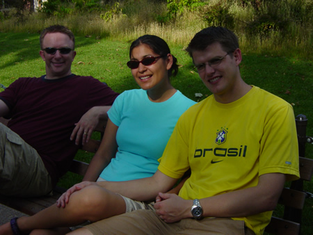 Joe, Jeannie, and Colin at the Lincoln Park Zoo