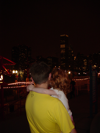 Colin and Lindee at the Navy Pier